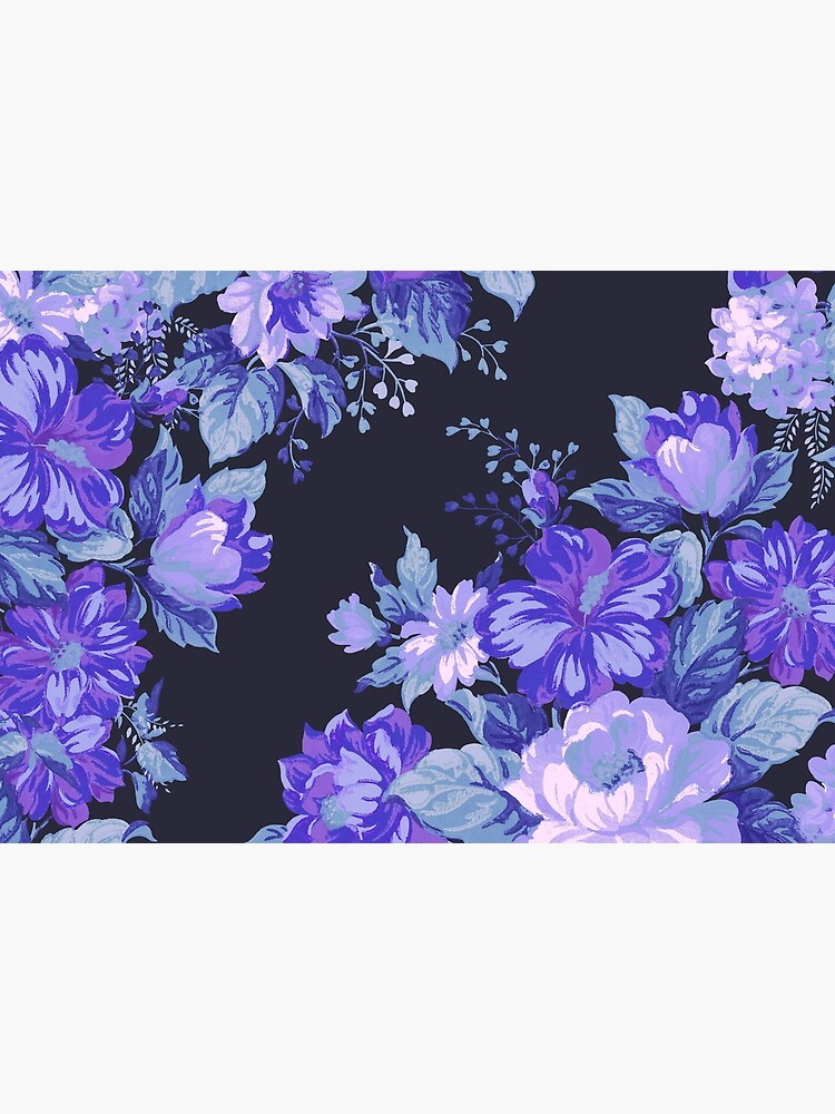 Midnight Floral Pattern by SteveRH