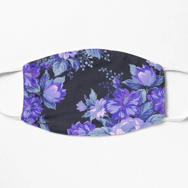 Midnight Floral Pattern Mask