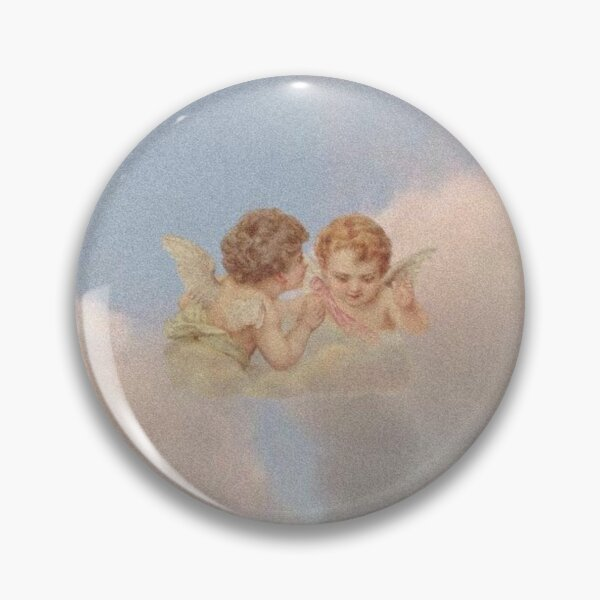 Renaissance angels in sky Cherubs Cupid Pin