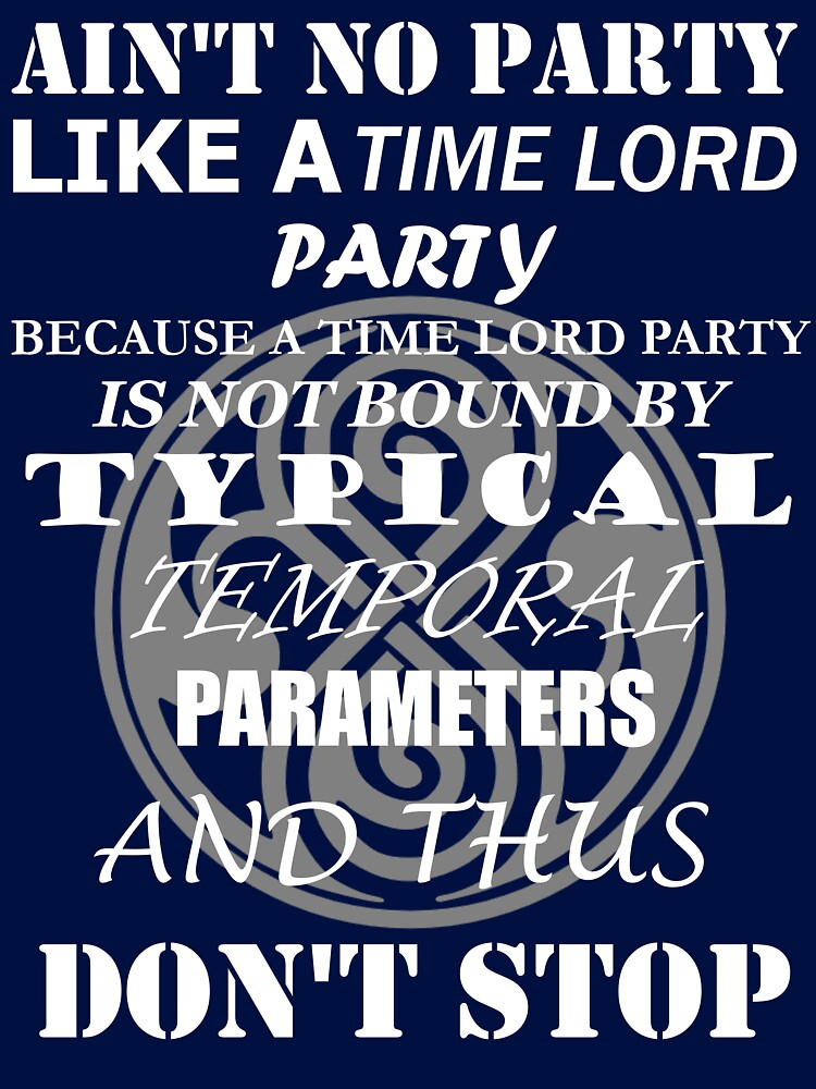 Time Lord Party by Silfrvarg
