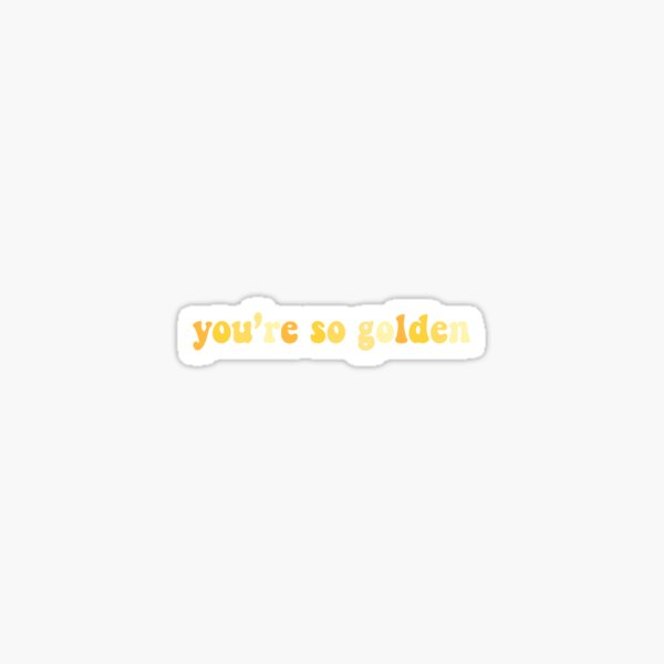 """Golden"" Aesthetic Lyric Sticker"