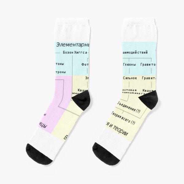 Краткий обзор различных семейств элементарных и составных частиц и теории, описывающие их взаимодействия Socks