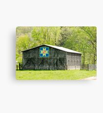 Kentucky Barn Quilt - Eight-Pointed Star Metal Print