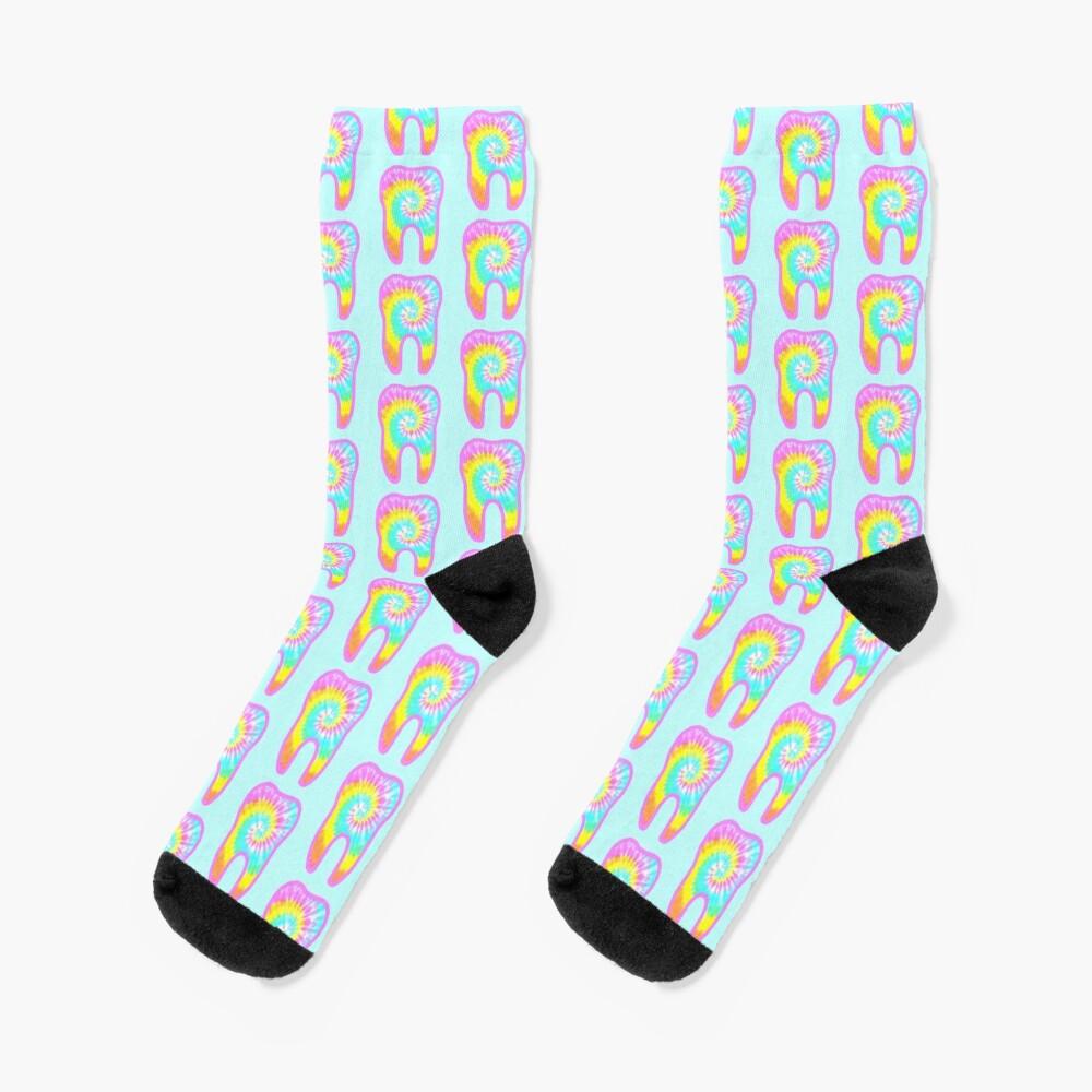 Tie dye tooth Socks
