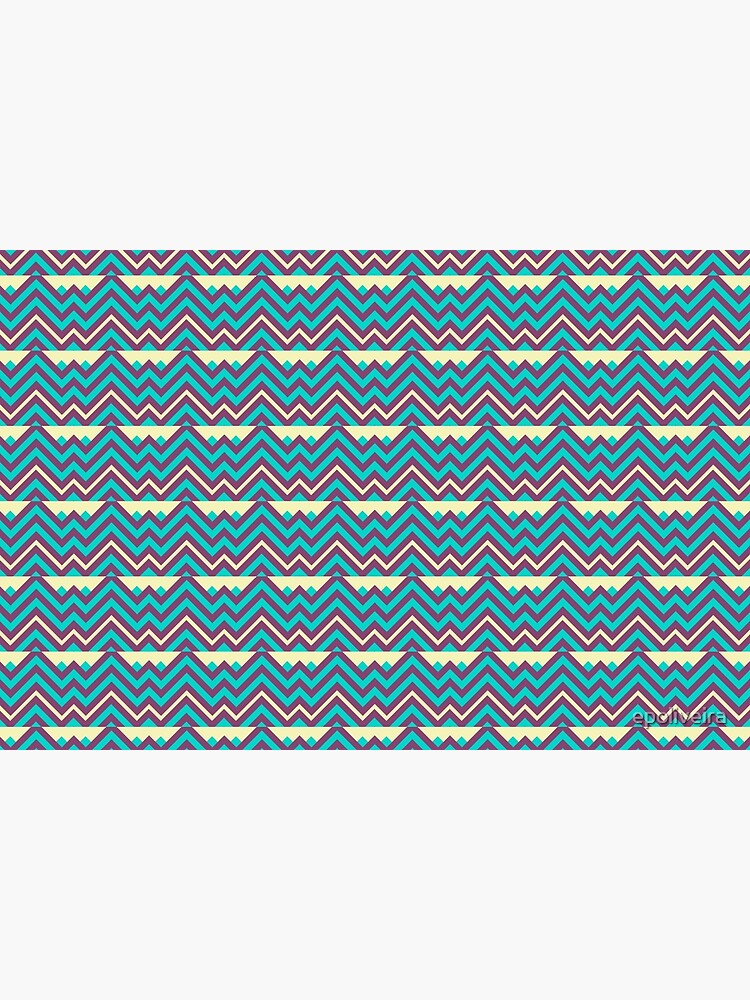 Chevron Stripes Geometric Pattern by epoliveira