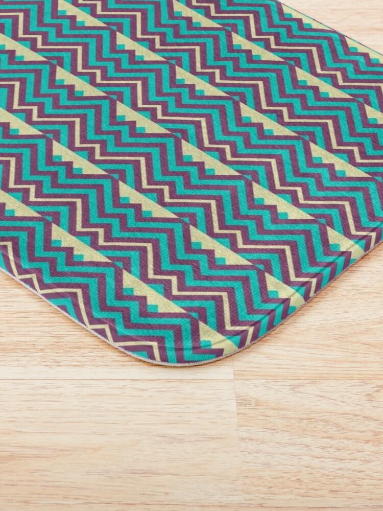 Alternate view of Chevron Stripes Geometric Pattern Bath Mat