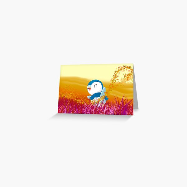 Piplup's Dreamscape Greeting Card