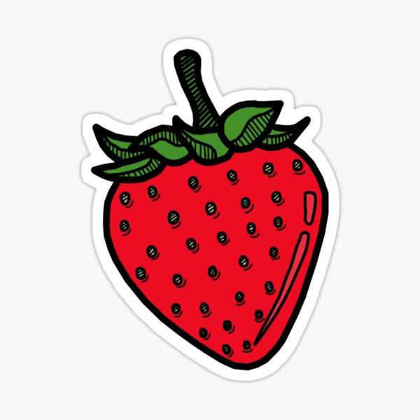 Strawberry - YELLOW Sticker
