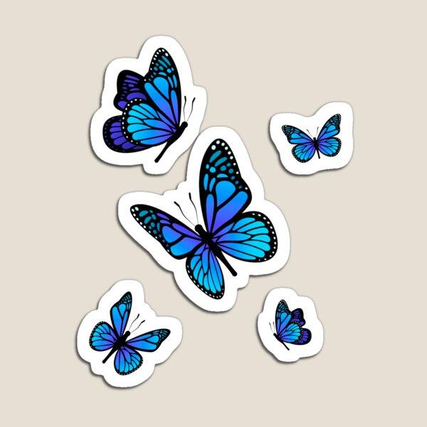 Aesthetic Light Blue Butterflies | Aesthetic Giftidea Magnet