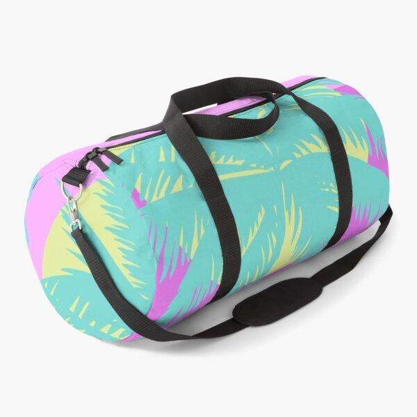 Retro Vintage Color Block Palm Trees Duffle Bag