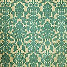 Vintage Turquoise Wallpaper by pjwuebker