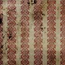 Vintage Stained Red Wallpaper by pjwuebker
