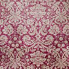 Stained Red Vintage Floral Wallpaper by pjwuebker