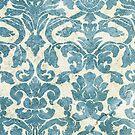 Light Blue Vintage Floral Wallpaper by pjwuebker