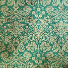 Stained Vintage Turquoise Floral Wallpaper by pjwuebker