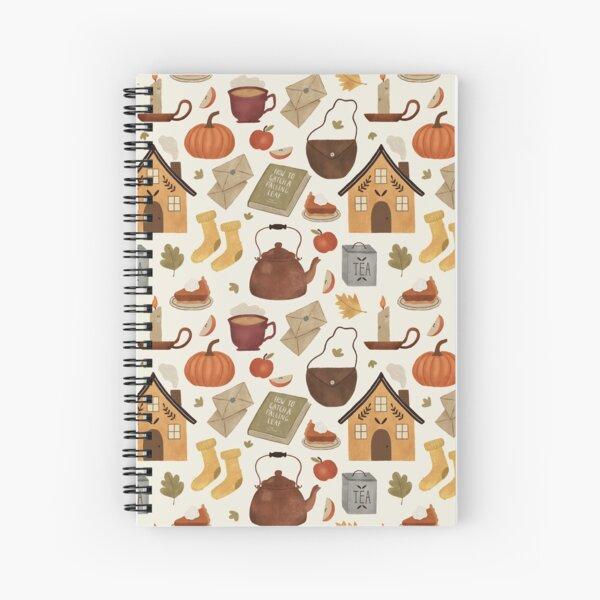 Autumn Cottage Days Spiral Notebook