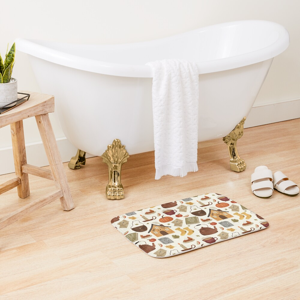 Autumn Cottage Days Bath Mat