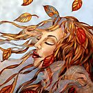 Yellow Leaves and Gossamer by Alma Lee