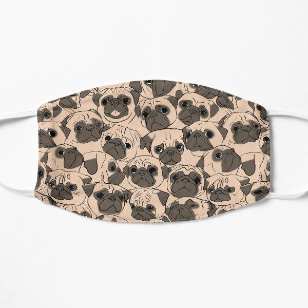 Fawn Pugs Flat Mask
