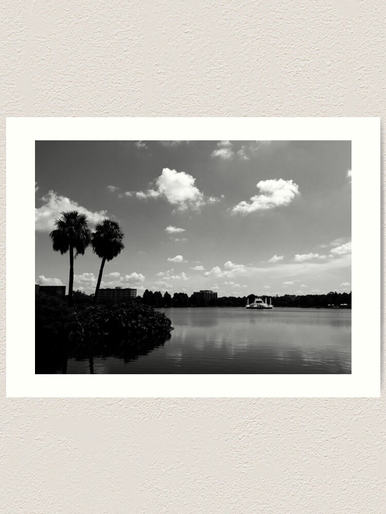 Alternate view of A Lake in Downtown  Art Print