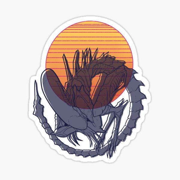 Alien Sunset Sticker