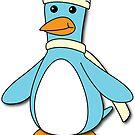 Light Blue & Creme Penguin by pondlifeforme