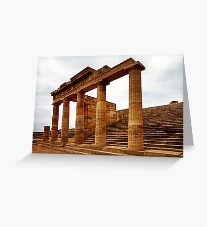 Temple of Athena, Acropolis of Lindos, Rhodes Greeting Card