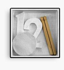 Twelve drummers drumming Canvas Print