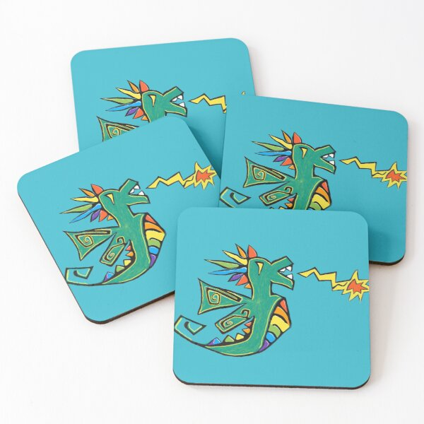 Rainbow Dragon Coasters (Set of 4)