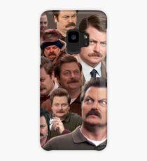 Ron Swanson Tile Case/Skin for Samsung Galaxy
