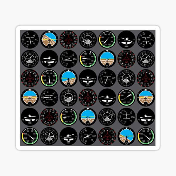 Flight Instruments Sticker