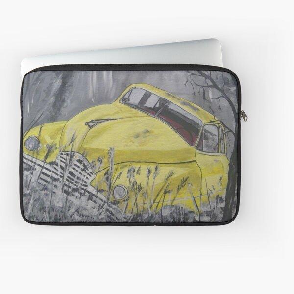 Mellow Yellow Old Car Laptop Sleeve