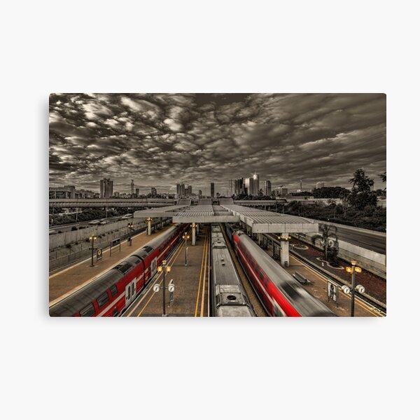 Tel Aviv central railway station Canvas Print