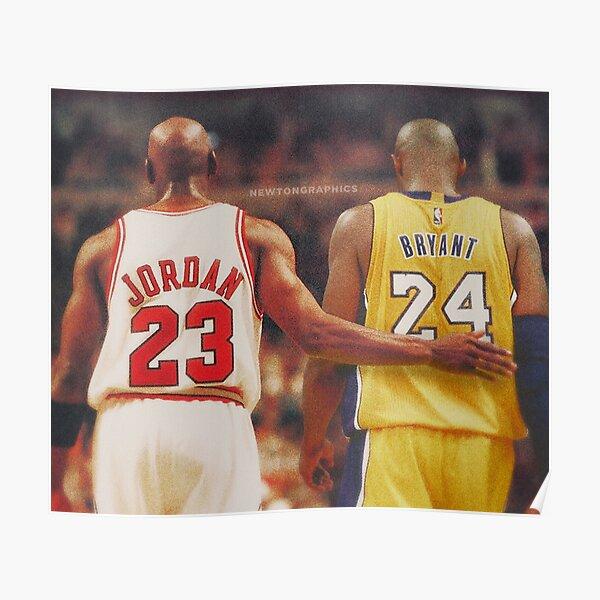 Jordan X Kobe 23 X 24 Poster