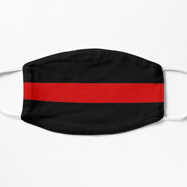 Support for Fire Department - The Thin Red Line Flat Mask