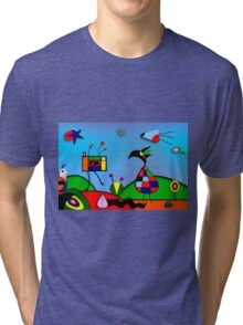 My Homage To Miro - The Raven King and I Tri-blend T-Shirt