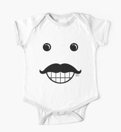 Happy Mustache Face Kids Clothes