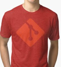 Git - Red logo Tri-blend T-Shirt