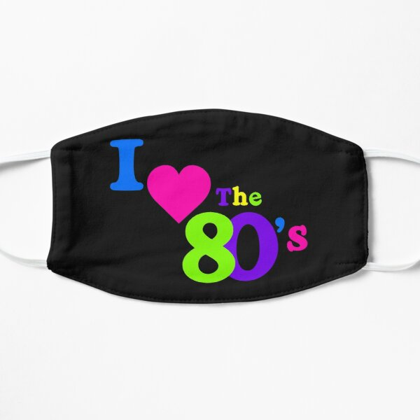 I Heart the 80's Flat Mask