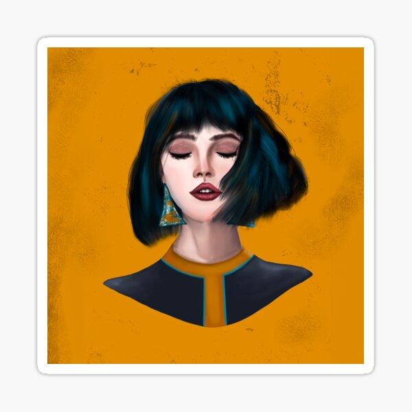 Yellow Girl Sticker