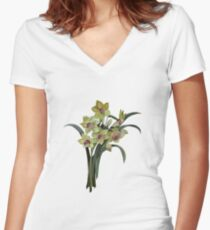 Lent Lily Isolated Women's Fitted V-Neck T-Shirt