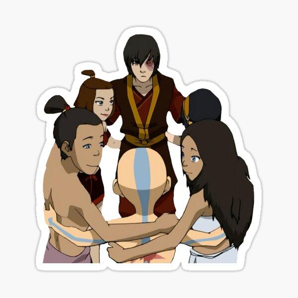 avatar gaang group hug Sticker