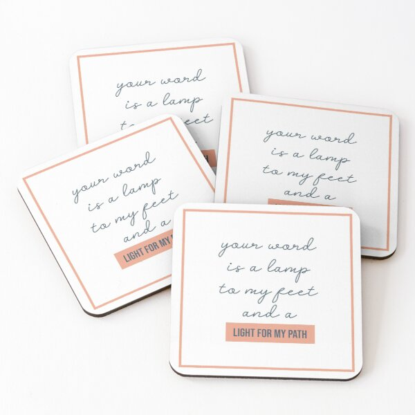 NM Light For My Path Coasters (Set of 4)