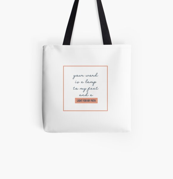 NM Light For My Path All Over Print Tote Bag