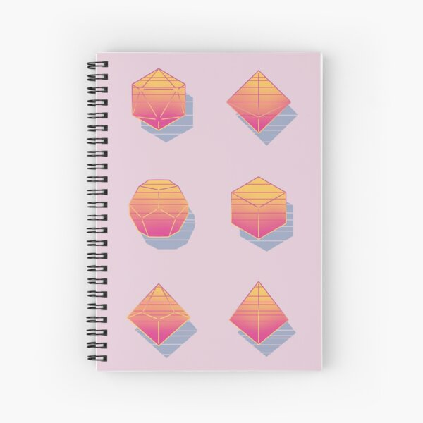 Aesthetic Dice  Spiral Notebook