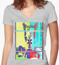 Horn Roof Women's Fitted V-Neck T-Shirt