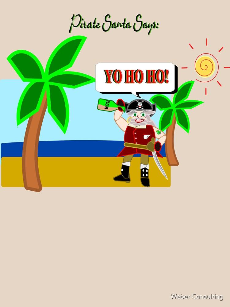 Pirate Santa says Yo Ho Ho by HalfNote5