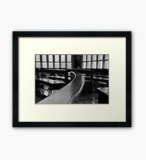 The pews Framed Print