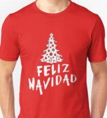 Feliz Navidad mit Baum Slim Fit T-Shirt