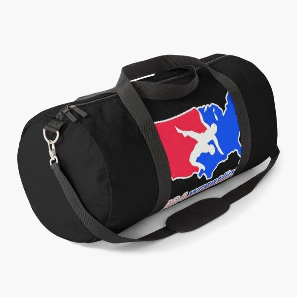 Red Blue USA Wrestling Logo Duffle Bag
